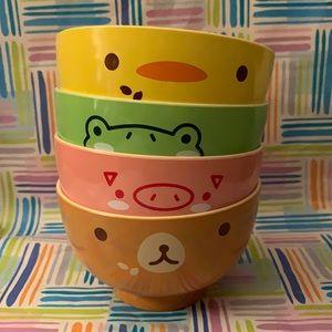 Animal print kid bowls